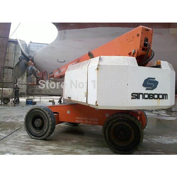 Self-propelled telescopic aerial work platform,indoor china aerial platform,aerial lift rental mobile hydraulic work platform(China (Mainland))