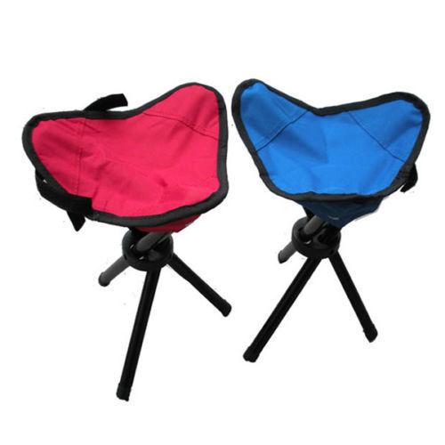 Portable Foldable Chair Seat Outdoor Fishing Camping Hiking Picnic Garden BBQ Tripod Stool Three Legs Chair(China (Mainland))