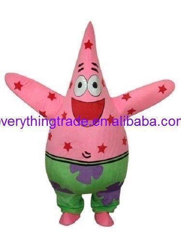 New arrival 2014 Cartoon Character Patrick Starfish Spongebob Mascot Costume Adult Size HOT SALE(China (Mainland))