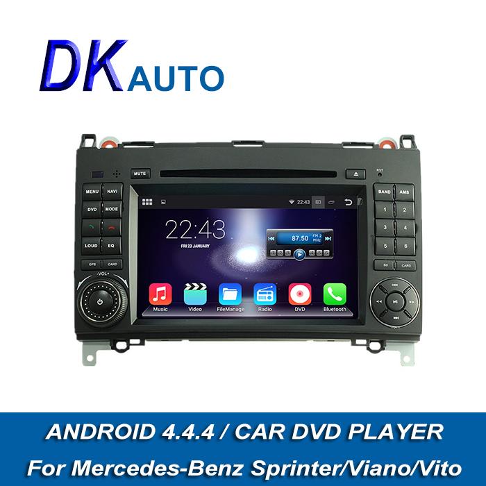 2015 Super Hot Android 4.4.4 OS Car Audio Player For Mercedes Benz Sprinter Vito Viano 2 Din 7 Inch 1G Car Stereo GPS Navi DVB T(China (Mainland))