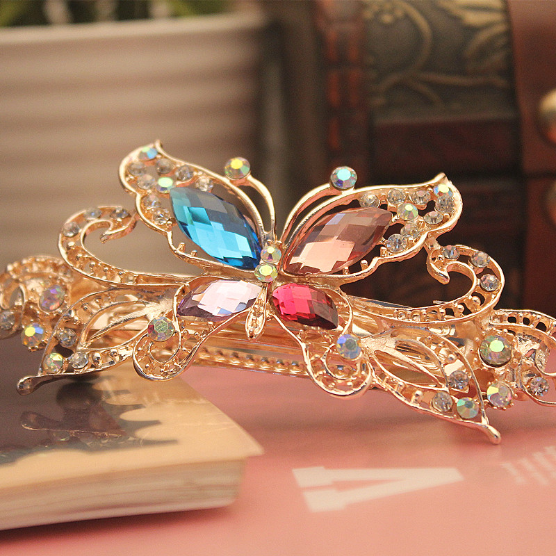 Accessories hair maker hair accessory small hair clip accessory butterfly hairpin hair pin spring clip folder flower Large(China (Mainland))