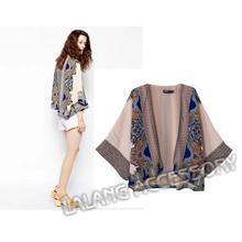 2015 mujeres de moda Boho étnico Vintage abrigos Hippie Ladies chaquetas casuales Cardiga impreso Floral Kimono blusas Tops bz655517(China (Mainland))