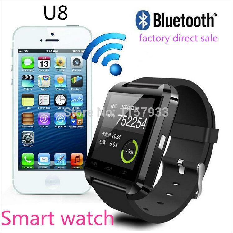 Smartwatch Bluetooth /u8 IOS Android Samsung u8 smartwatch bluetooth ответ камера управляющее сообщение медиа анти потерянный для android ios смартфон