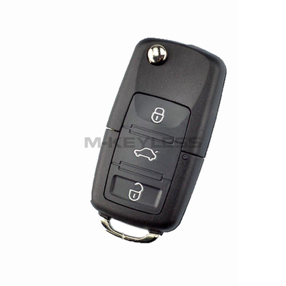 In stock New For VW Volkswagen Jetta Passat 2002 2005 2010 Flip Remote Key Shell Car Case No Chips Inside 3 Buttons(China (Mainland))