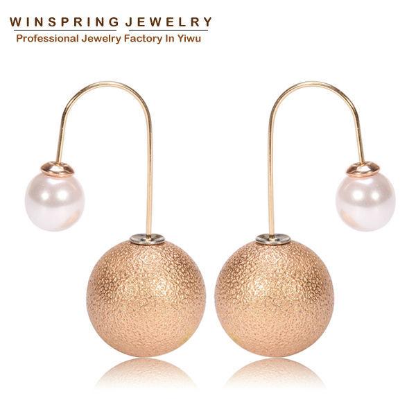 2015 Newest Hook Drop Earrings Fashion Big Long Drop Earrings For Women 8mm Pearl 11Colors Mix Gold Drop Earrings MOQ 1Pair Free(China (Mainland))