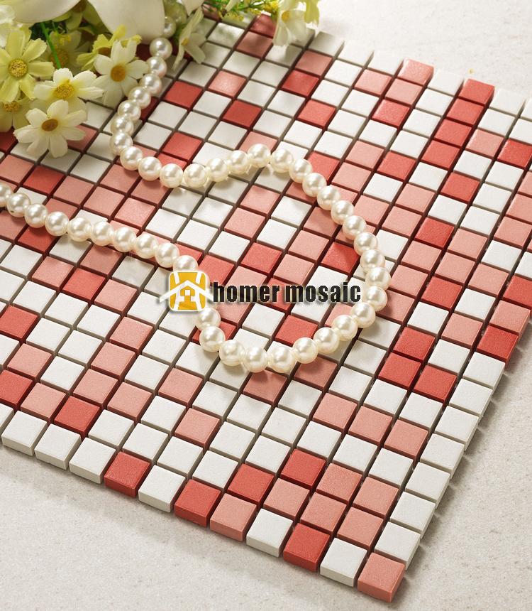 Rode Keuken Tegels : Mosaic Ceramic Tile Kitchen Backsplashes