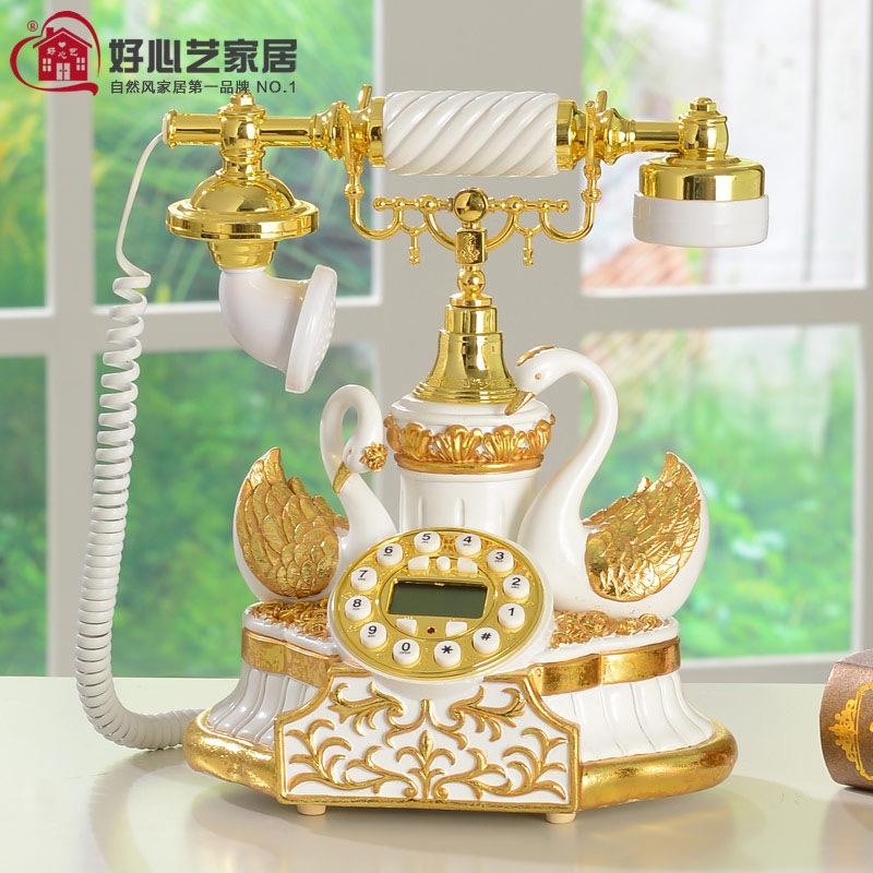 New European pastoral creative fashion imitation retro telephone landline home phone telephone cute fly together(China (Mainland))