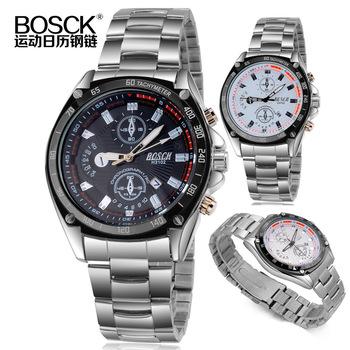 Стали цепи наручные часы рука мужчины , часы спортивный календарь три платины Shilang май стол H3102