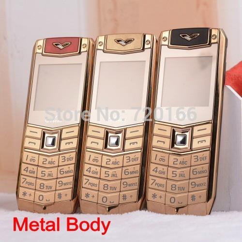 Luxury phone metel body unlocked cell phones support Russian keyboard francais espagnol Dutch Polish Greek cheap mini mobile(China (Mainland))