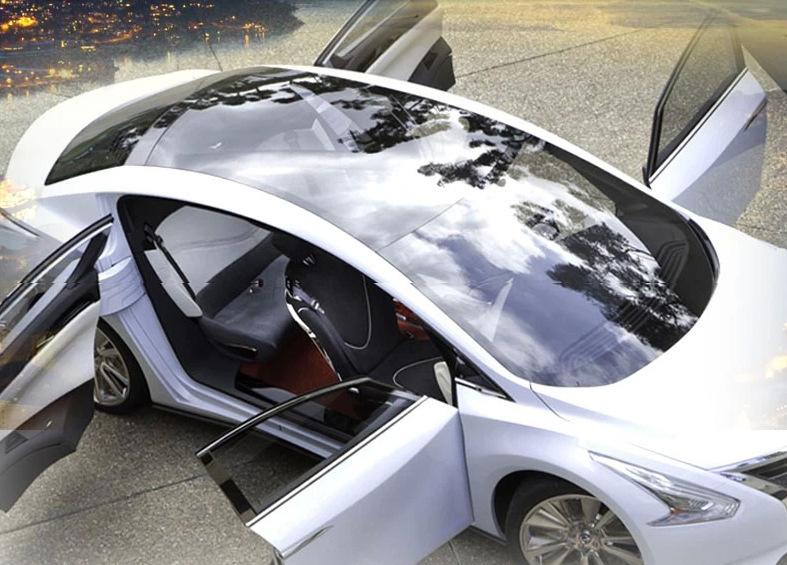 Защита от солнца для заднего стекла авто Skylight sticker MAZDA VW KIA 1,35 * 15 M