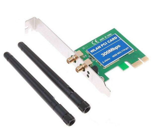 High Quality 300Mbps PCI-E Wireless LAN Card IEEE802.11b/g/n PCI Express WiFi Network Antenna 1pcs 1 pcs(China (Mainland))
