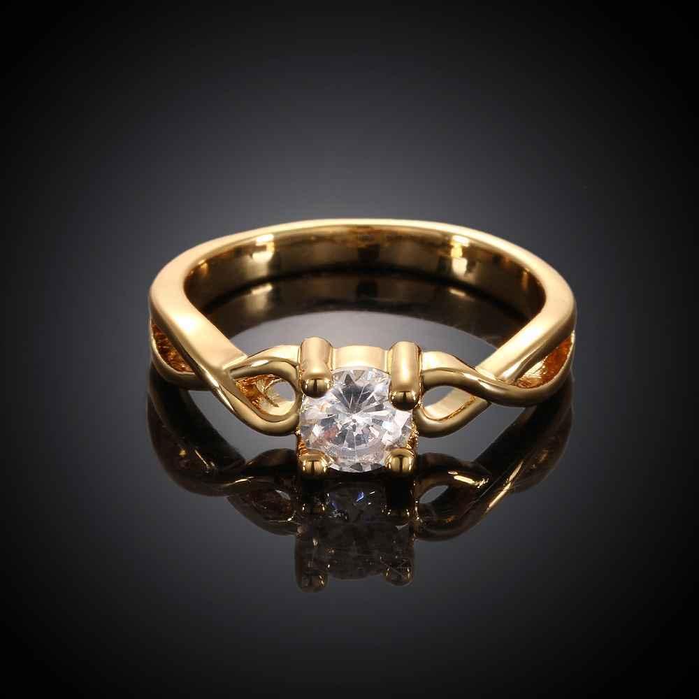 18 K позолота циркон ювелирные изделия вставки белый камень кольцо anillos властелин колец ringsSKGR023 кольцо bao chun anillos 925 aneis jz10 bcjz10