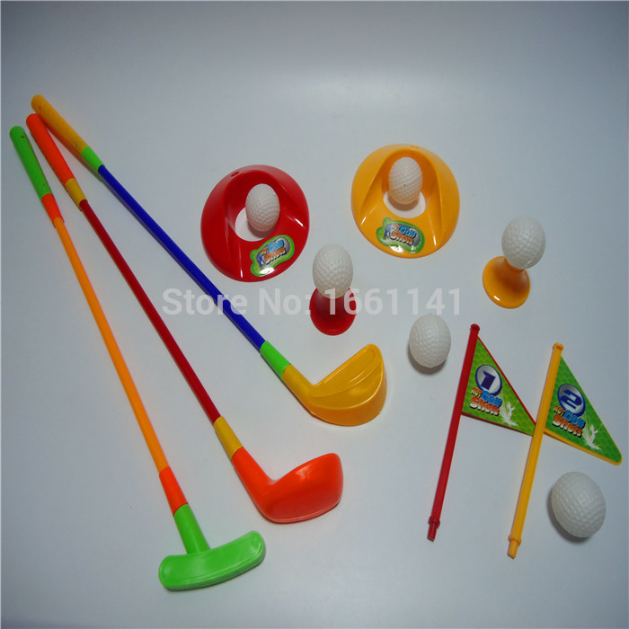 Golf series (15), club / ball / flag and other recreational adult children outdoor fitness exercise toys fun parent-child games(China (Mainland))