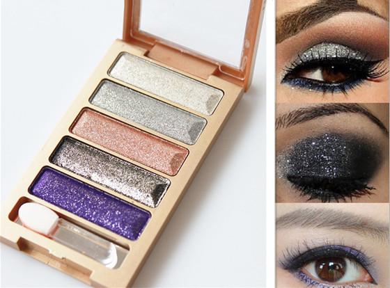 Гаджет  5 Colors Diamond High Qualtiy pigment makeup eyeshadow pallete to eye kit maquiagem eye shadow beauty naked pallete None Красота и здоровье
