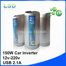 150 Вт инвертор силы автомобиля 12 В до 220 В инвертор с usb 5 В 2.1a 1.5 отрицательных ионов кислорода бесплатная доставка