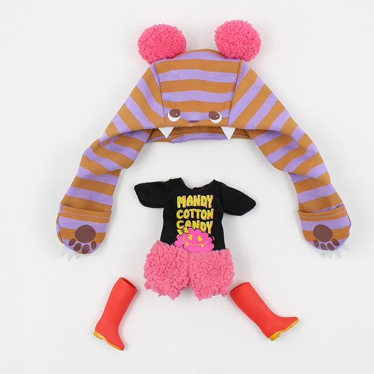 Blyth doll accessory 3pcs/set cotton clothes suit candy brand new blyth clothes doll accessories set 1/6(China (Mainland))