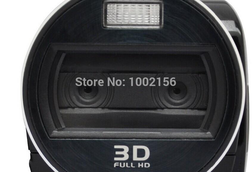 Hot! 3D Camcorder 1920*1080p FHD 16 Mega pixels CMOS 2X LED light digital video Camera portable family outdoor travel camera VD2(China (Mainland))