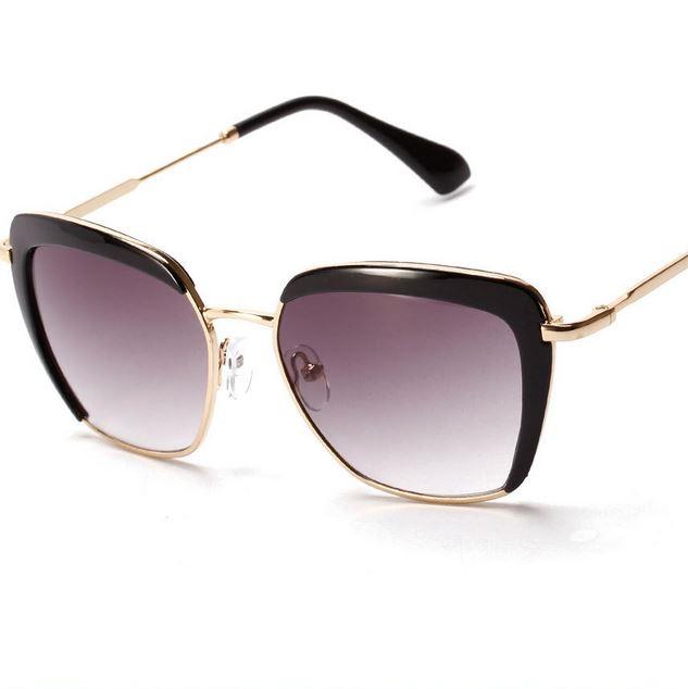 sunglasses women Personality and half frame sunglasses Europe and the United States box new sunglasses(China (Mainland))