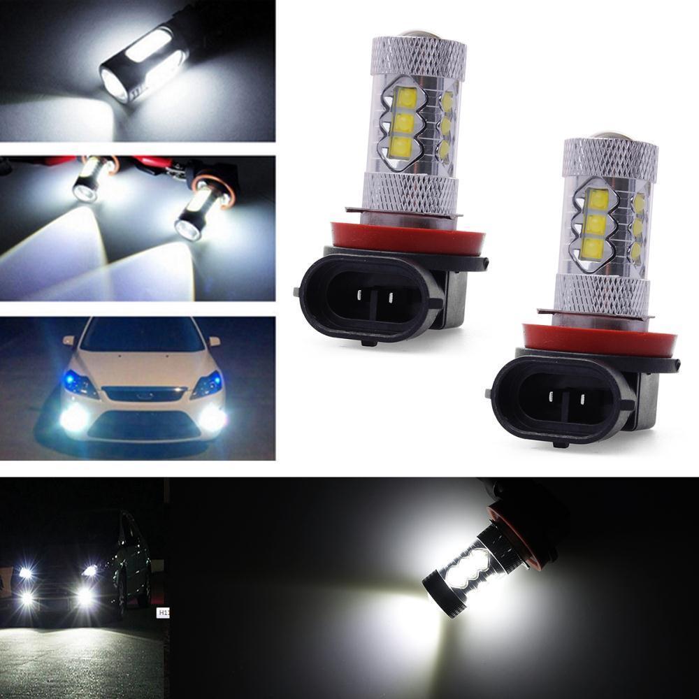 2PCS Car H11 LED Epistar Car Fog Bulb Head Light Daytime Super Bright Fog Day Driving Light Headlight Lamp 80W LD314(China (Mainland))