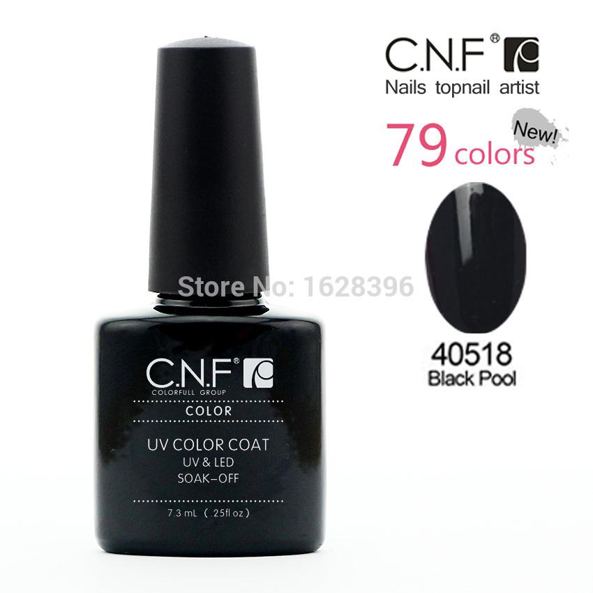 NC40518 Black Pool 24pcs/lot CNF shellacgel saok off uv nail gel polish 79 color long lasting nail varnish gel lacquer glue set(China (Mainland))