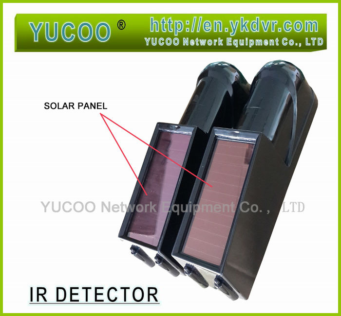 100M Range Solar Power Wireless Transmission Barriere Ir Beam Detector - Outdoor Indoor Available(China (Mainland))