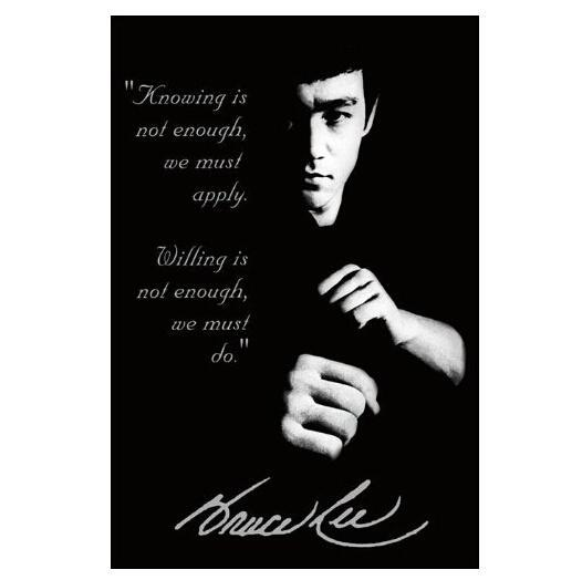 2014 New Bruce Lee Quotes Home Decoration Movie Poster Custom Fashion Classic 50x75CM Wall Sticker Free Shipping KO/366322(China (Mainland))