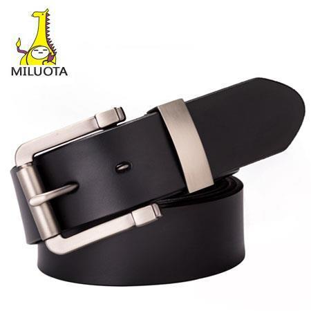 [MILUOTA] 2015 100% Genuine Leather belts for men belt brand ceinture homme fashion Metal buckle men belt leather cintos LW513(China (Mainland))