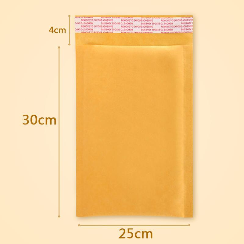 10 PCS/lot 25 * 30 cm Kraft bubble bag filling yellow envelope bag mail bag fragile parcel transport packaging Free shipping(China (Mainland))