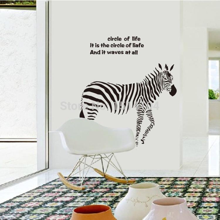 zebra wohnzimmer:Gz0100- Handel Ideen zebra sticker Wohnzimmer schlafzimmer tv