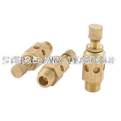 "3 x Adjustable 1/8"" PT Thread SC Sintered Bronze Exhaust Muffler Throttle Valve(China (Mainland))"