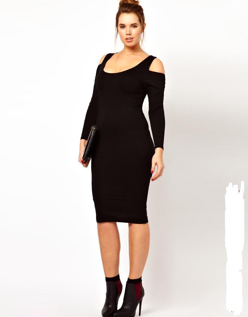 Long Sleeve Black Dresses For Women
