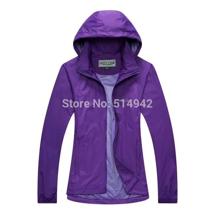 Dropshipping Autumn spring Jacket Hiking Outdoor Sportswear single Layers Waterproof Warm Coat camping jacket women waterproof(China (Mainland))