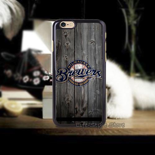 1PC Hard Vintage Milwaukee Brewers Cases for iphone4 i4s i5 i5s i5c and i6 i6 Plus(China (Mainland))