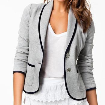 2015 новинка пиджаки женщины весна тонкий дизайн короткое время - серый пиджак пиджак воротник короткие куртки для женщин J8364