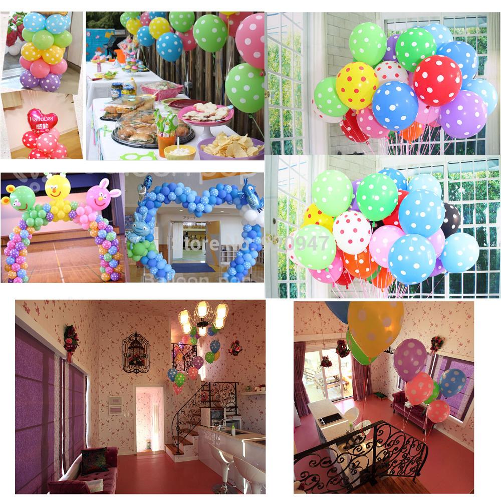 """12"""" Latex Polka Dot Balloon Party Wedding Birthday Decorating 10pcs 11colors (China (Mainland))"""