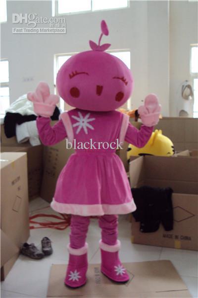 Hot selling 2014 Adult cute Flower Girl Mascot Costumes Adult Size Halloween Costume Cartoon Fancy Dress(China (Mainland))