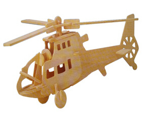 Free Shipping Educational 3D Wooden Puzzles Toys ,Funny DIY Toys Fighter Plane Woodencraft Construction For Sale(China (Mainland))