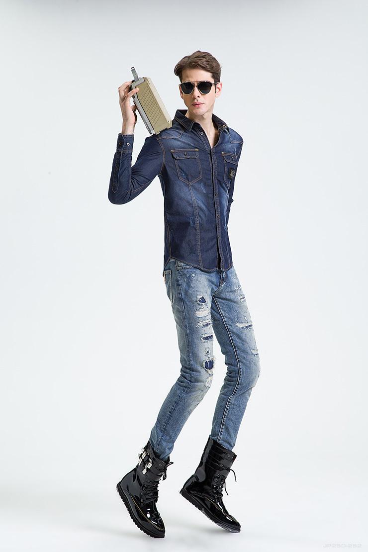 Cotton Jeans Shirts Men Jean Shirt 100 Cotton