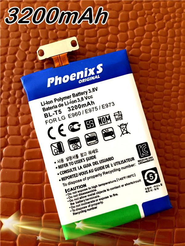 Батарея для мобильных телефонов 3200mAh bl/t5 /lg E960 /e975 /e973 /e970 /f180/nexus 4 BL-T5