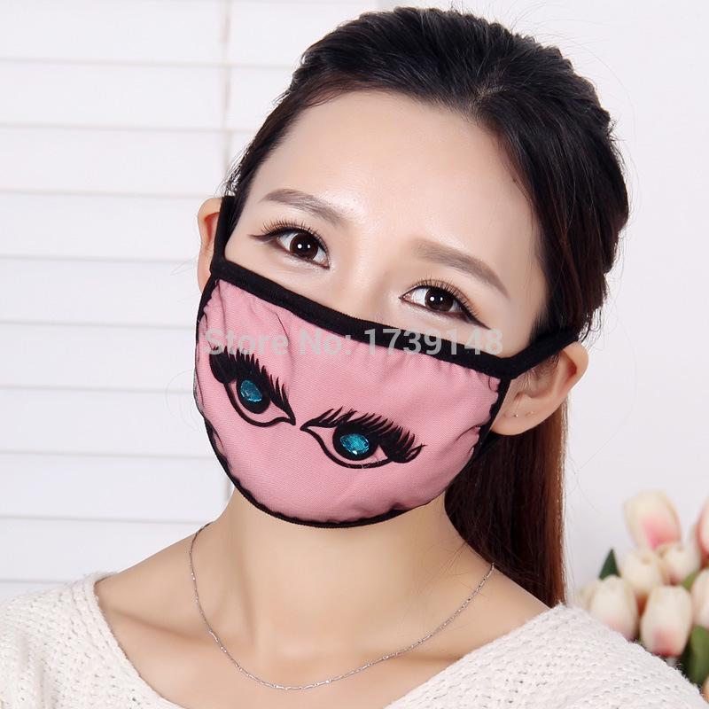 Ms. creative personality black gauze masks sapphire eyes spring / autumn dust masks X1(China (Mainland))