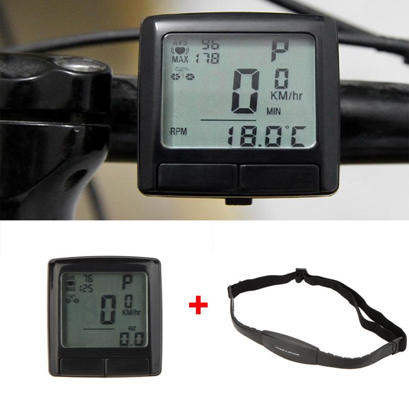 22 in 1 Cycle Bike Bicycle Computer Digital Speedometer Odometer Velocimetro Bicicleta + Wireless Heart Rate Monitor Chest Strap(China (Mainland))