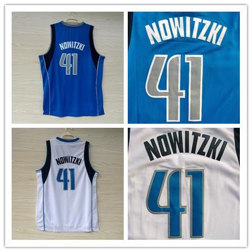 Dirk Nowitzki Authentic Jersey 41 Dirk Nowitzki Jersey Blue
