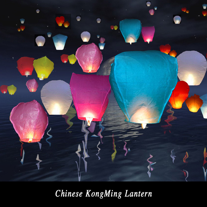 10pcs/lot Multicolor Paper Chinese wishing lantern Flying hot air balloon Fire Sky lantern Decor for Birthday Wish Wedding Party(China (Mainland))