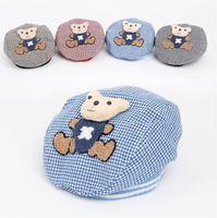 3Colors Baby Hat Lovely Bear Cartoon Beret Baby Cap Children Headdress