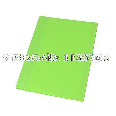 Office School 20 Clear Pockets A4 Paper Documents File Folder Lime Green(China (Mainland))