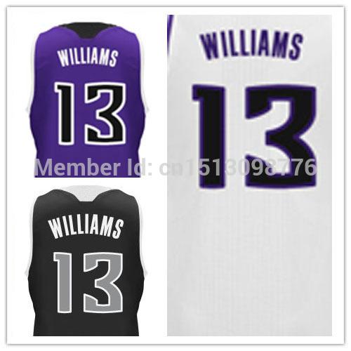 Stitched Sacramento Basketball Jerseys #13 Derrick Williams Authentic Basquete 30 Home Road Alternate Shirt - Free Shipping(China (Mainland))