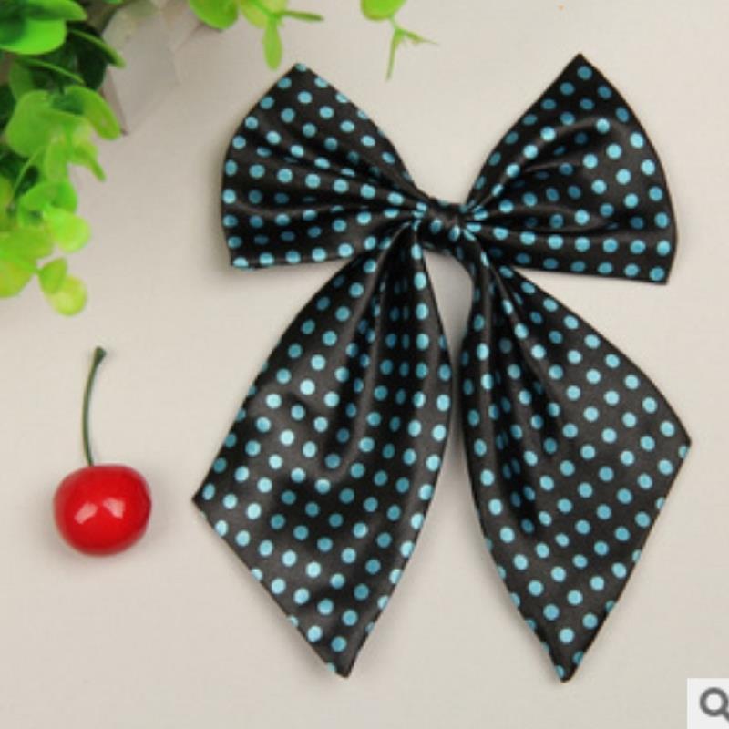 brand gravata corbatas pajaritas hombre Blue dots Stewardess Hotel Girls Bow ties LYY4904 marca noeud papillon collares(China (Mainland))