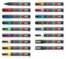 17 цвета реклама маркер posca pc-5 m майк многоцветный ручка чернила маркер ручки