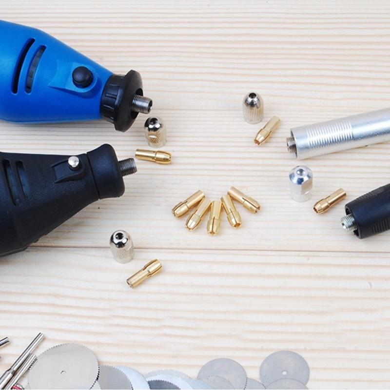 Комплектующие к инструментам OEM 8 /1mm/1.6mm/2.3mm/3.2mm Dremel BP #69134 Brass Collet комплектующие к инструментам 10 dremel 10