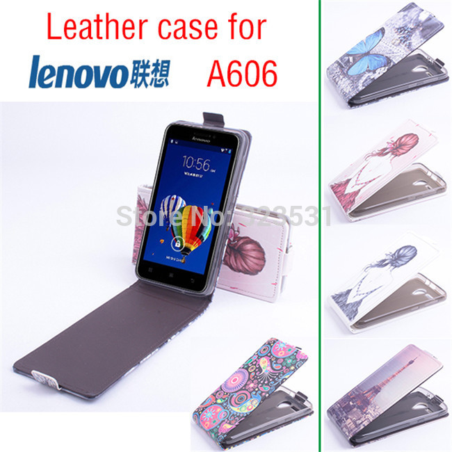 more photos f1852 28946 Hot Selling!!! lenovo A606 Smartphone Painted Flip cover leather Case. Case  For lenovo A606 Mobile Phone. Free Shipping